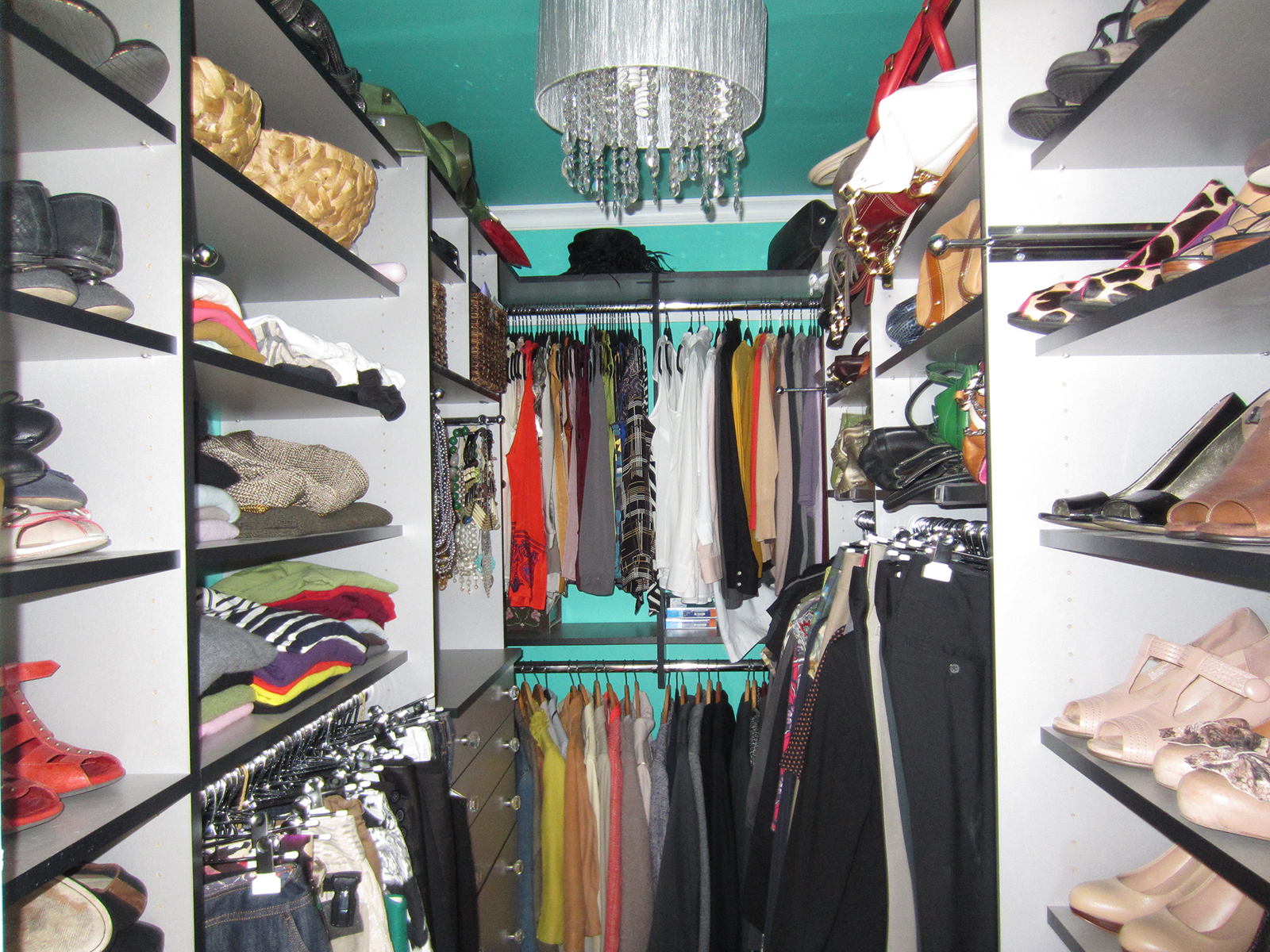 Delightful Fashionista Walk In Closet 1